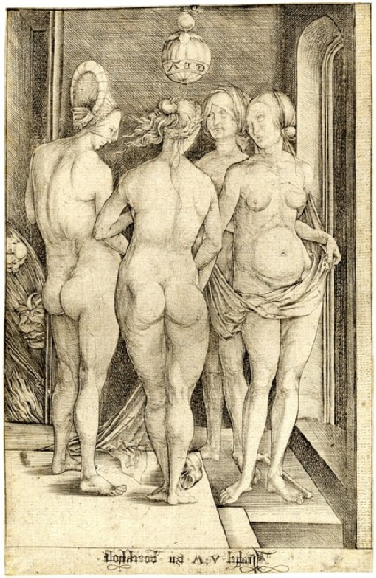 The four witches, copy in reverse