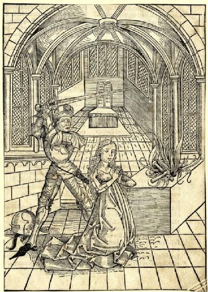 Jephta sacrificing his daughter
