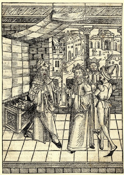 Herod enquiring the Magi about the appearance of the star