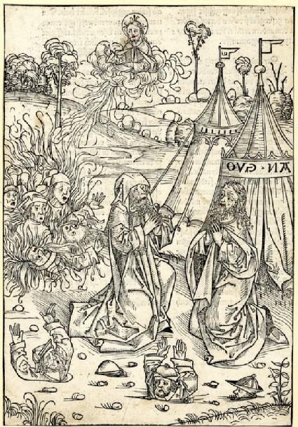 The fate of Korah, Datham and Abiram