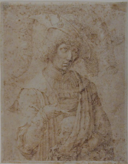 The Young Man with the Skull, after Lucas van Leyden