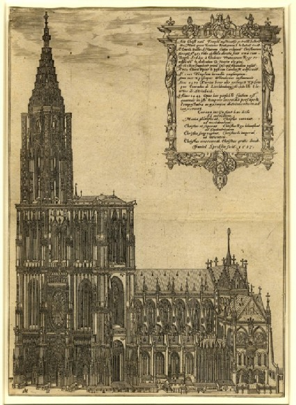 View of the Cathedral of Strasbourg