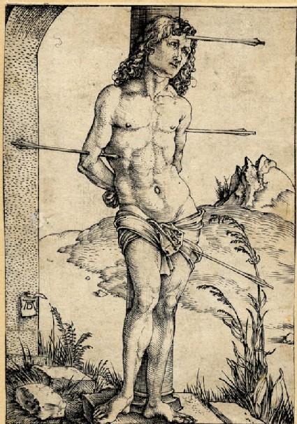St Sebastian bound to the column