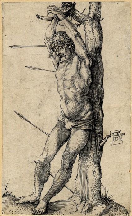 St Sebastian bound to the tree