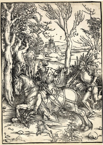 The knight on horseback and the lansquenet