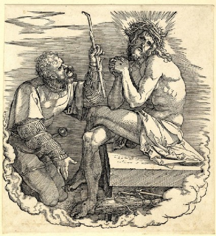 The man of sorrows mocked by a soldier