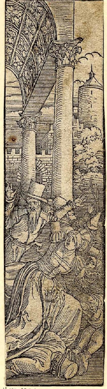 Men and women fleeing