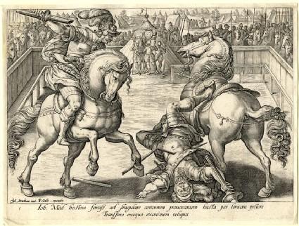 Giovanni de' Medici in a duel