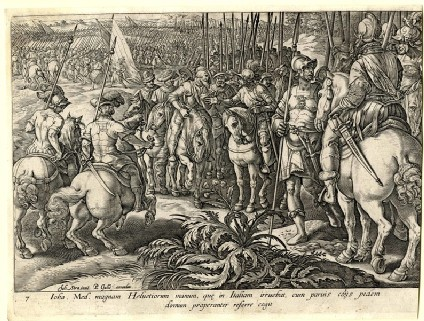 Giovanni de' Medici sends back the Swiss mercenaries