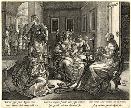 Lucretia and her women spinning