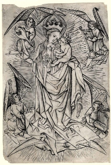 The Virgin with the Child on the Crescent, surrounded by four angels