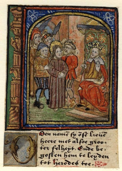 Christ before Herodes