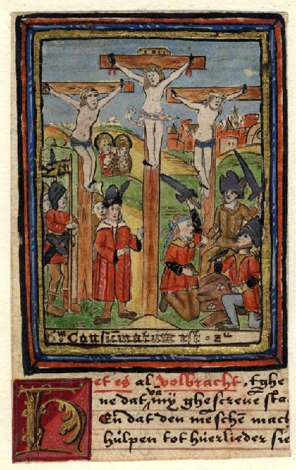 Christ on the cross with the Soldiers casting Lots below