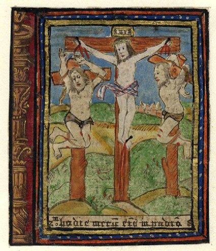 Christ on the Cross with the repenant Thief