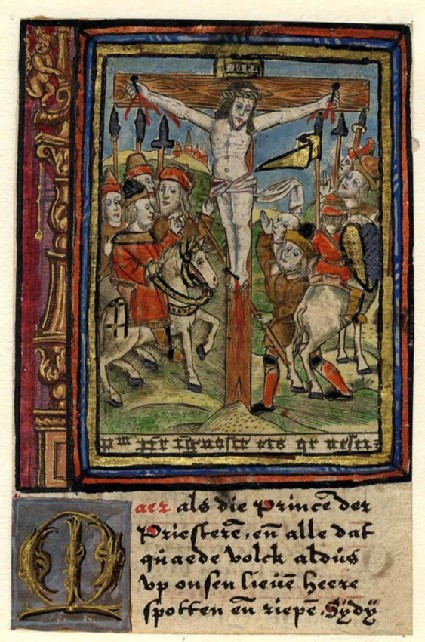 Christ on the Cross scoffed by the Chief Priests
