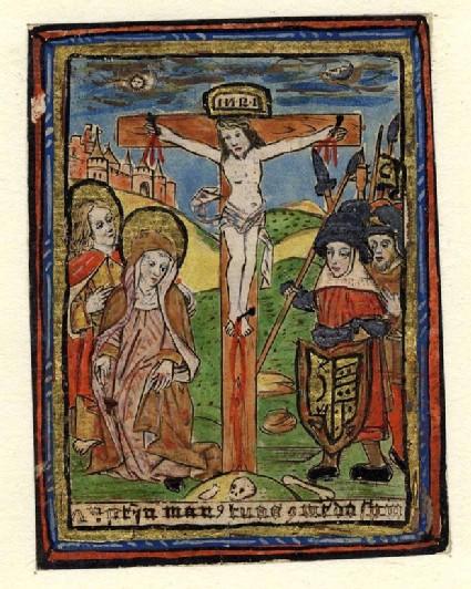 Christ on the Cross speaking his last Words