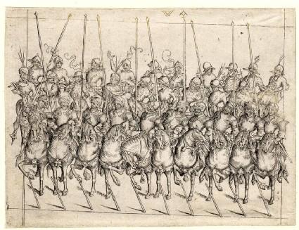 Detachment of ten cavalrymen
