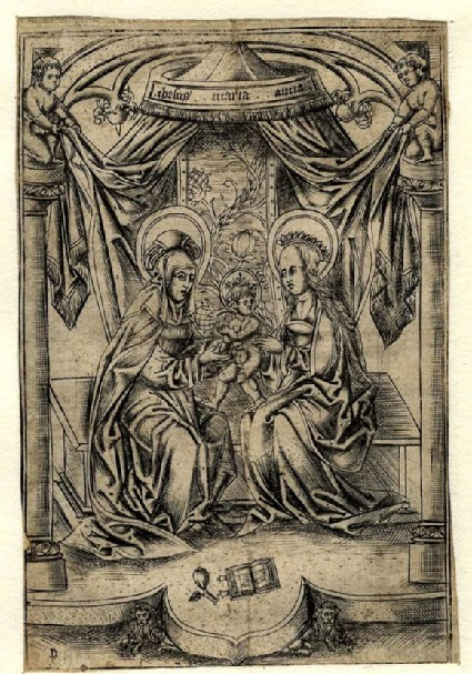 The Virgin with the Child and St Anna under a Canopy