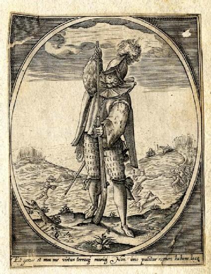 Standing soldier handling a gun
