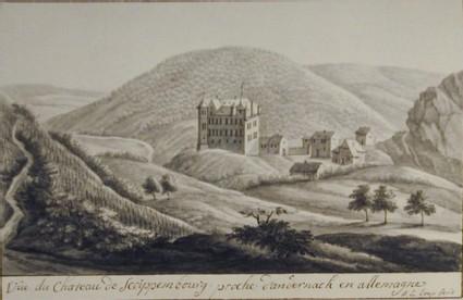 Vue du Chateau de Scoippembourg, pres d'Andernach en Allemagne