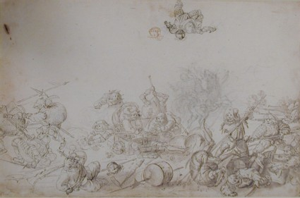 Battle of grotesque Figures