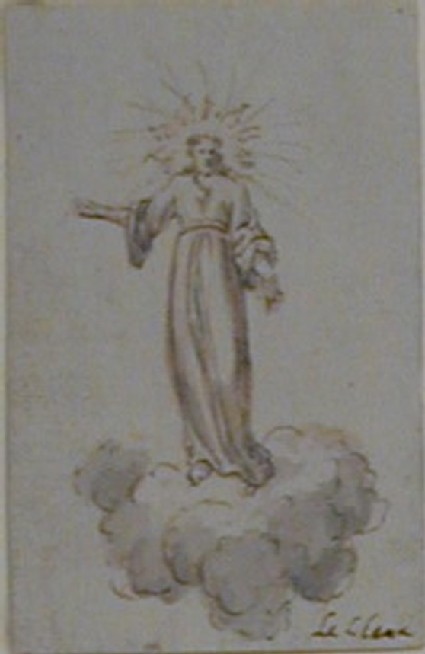 Christ standing on a Cloud