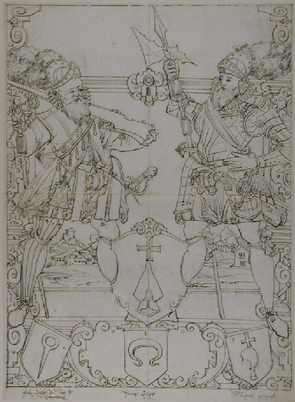 Design for a panel of stained glass with the Dörflingen coat of arms