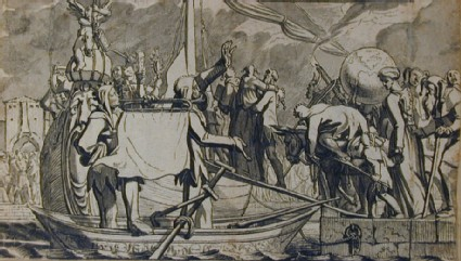 The Embarkation in the Ship of Fools