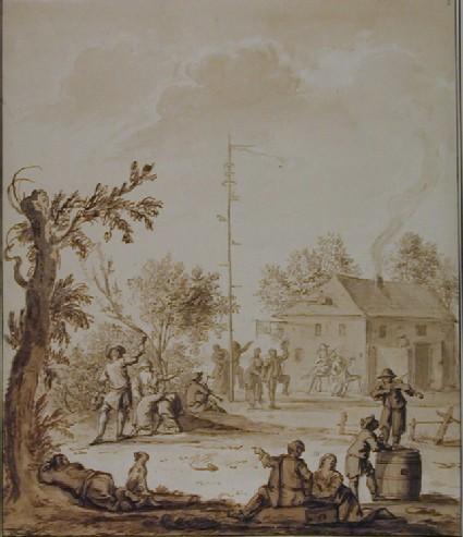 Villagers merrymaking