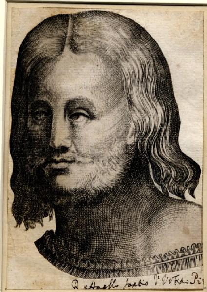 Bust portrait of Raphael, facing left