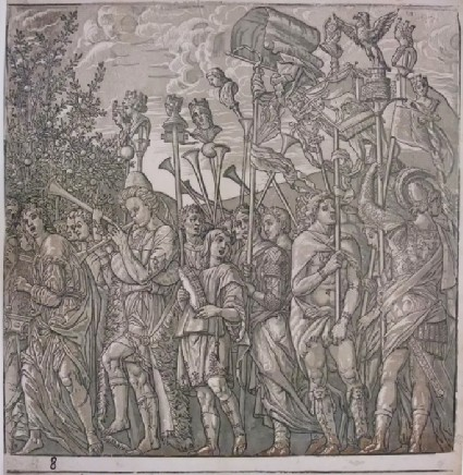 A Procession of Romans playing instruments and Soldiers carrying Insignia