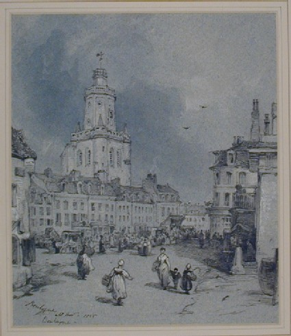 Street Scene with the Belfry, Boulogne-sur-Mer