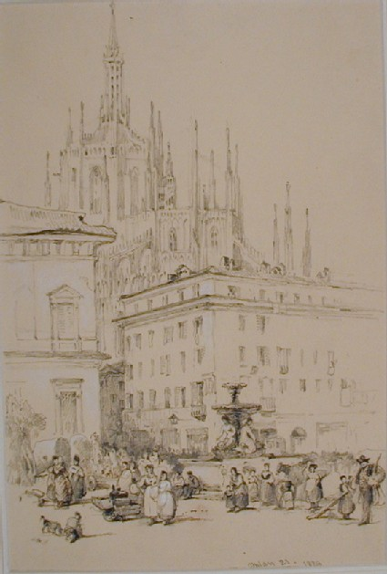 The Cathedral from the Piazza Fontana, Milan