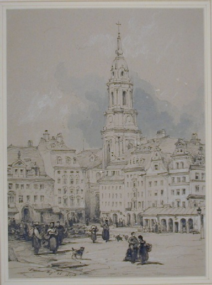 The Altmarkt and Kreuzkirche, Dresden