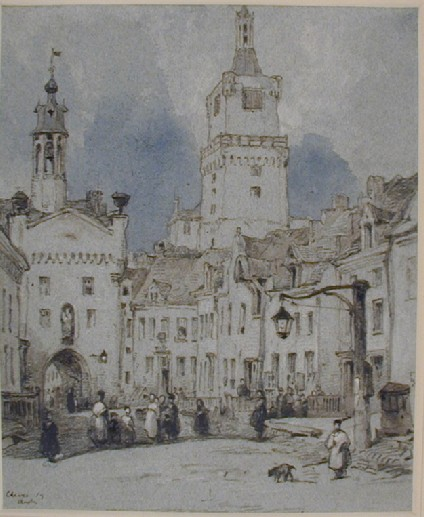 Street Scene with the Schwanenburg, Cleves