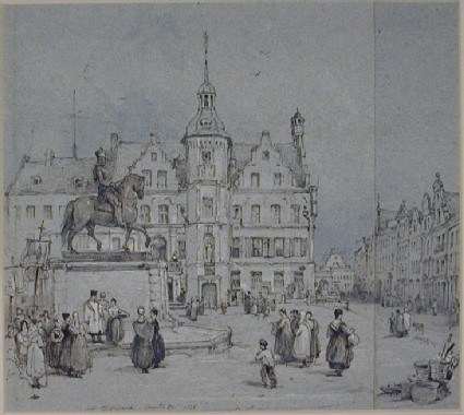 The Rathaus and the Statue of Jan Wellems, Düsseldorf