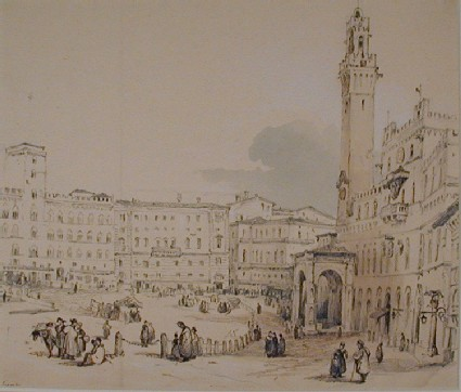 The Piazza del Campo, Siena