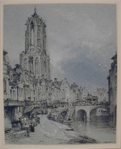 Street Scene with the Domkerk, Utrecht