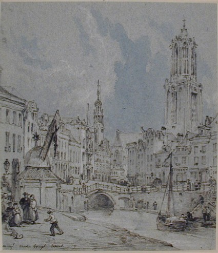 The Oudegracht with the Domkerk, Utrecht