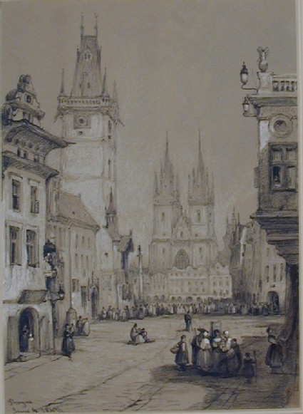 The Old Town Hall and Tyn Church, Prague