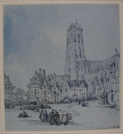 The Grote Markt with St Rumbold's Cathedral, Mechelen