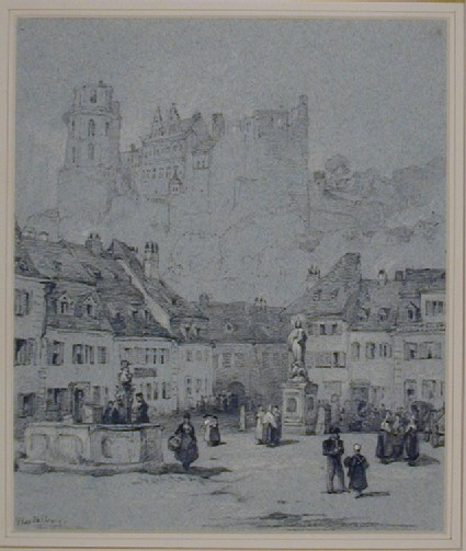 The Schloss from the Kornmarkt, Heidelberg