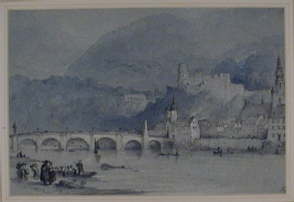 The Alte Brücke and Schloss from across the River Neckar, Heidelberg
