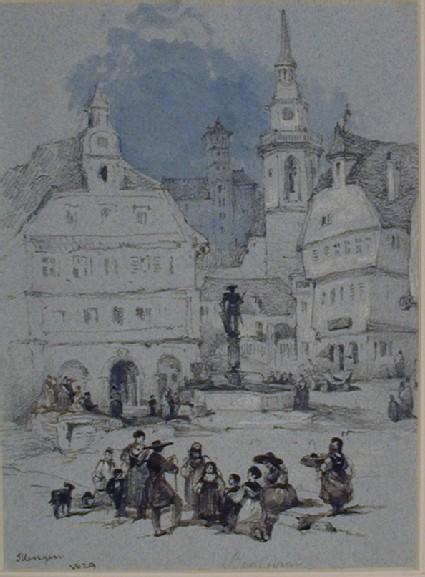 A Street Scene in Illengen