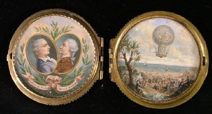 Portraits of Aeronauts Jean Francois Pilatre de Rozier and Pierre Romain