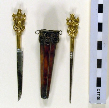 Case with knife and bodkin
