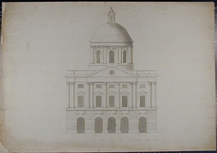 Design for the Radcliffe Library: Elevation