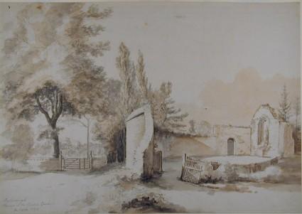 Oxborough, Norfolk: Ruins in the Rector's Garden