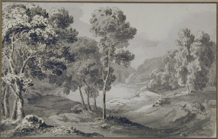 Wooded Landscape with a Lake