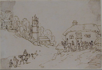 Recto: A Village Scene